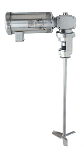 "Picture of 1/2 HP Electric 3"" Tri-Clamp® Mount Gear-Drive Sanitary Mixer with External Mechanical Seal"
